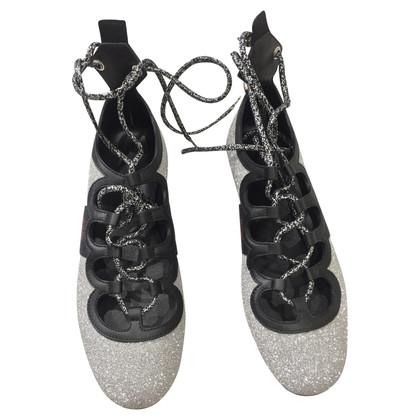 Gucci Ballerinas in silver