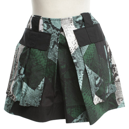 Proenza Schouler skirt with reptile-print
