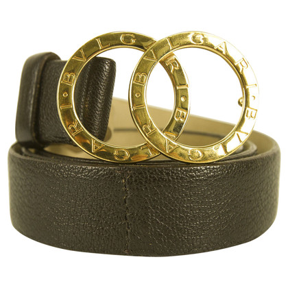 Bulgari Black leather belt