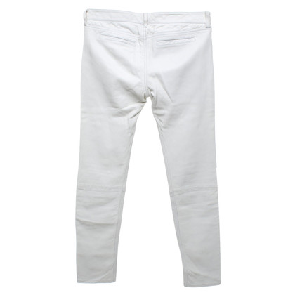 All Saints Pantaloni di pelle in crema