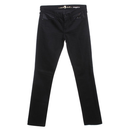 7 For All Mankind Jeans Black Denim