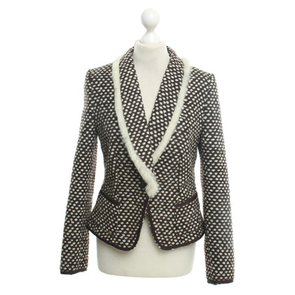Drykorn Dotted blazer with real fur