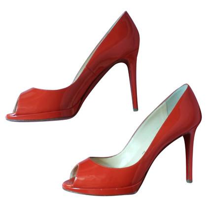 "Christian Louboutin ""Yolanda"" patent leather peep toes"