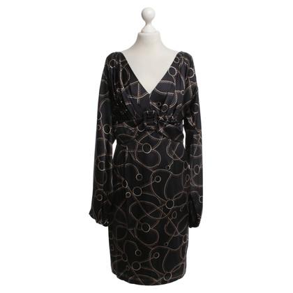 Talbot Runhof Kleid mit Ketten-Print