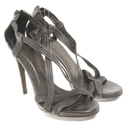 Burberry Silver-colored sandals