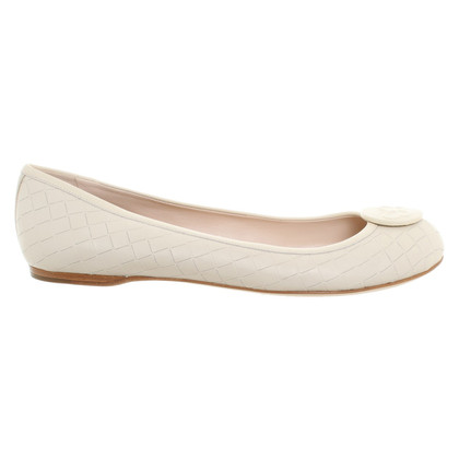 Bottega Veneta Ballerinas in cream white