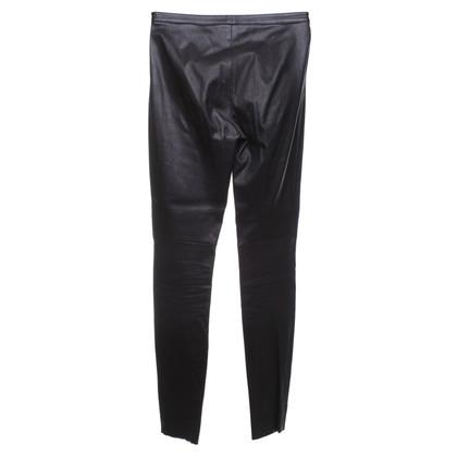 Rena Lange Lederhose in Schwarz