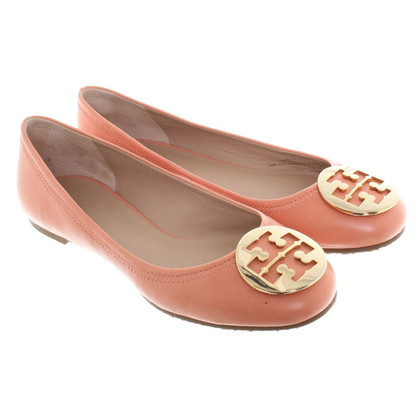 Tory Burch Ballerina's in Apricot