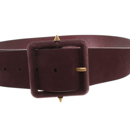 Gucci Leather belt with a roughened surface