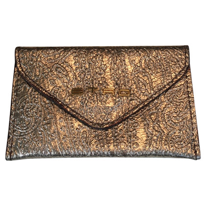 Etro Gold colored card case