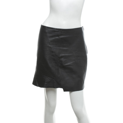 Bash Leather mini skirt