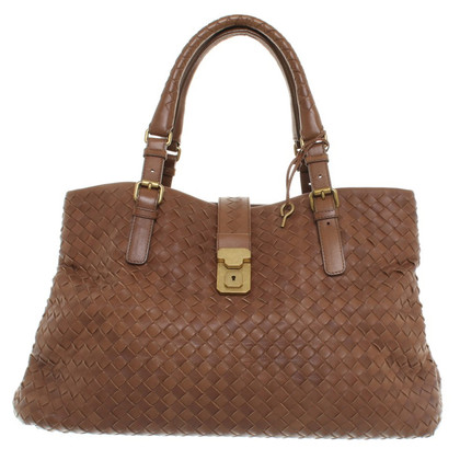 Bottega Veneta Handtasche aus braunem Leder