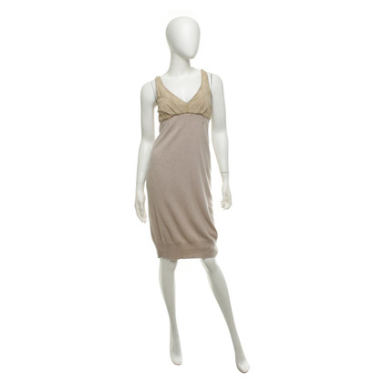 Brunello Cucinelli Knit dress with leather trim