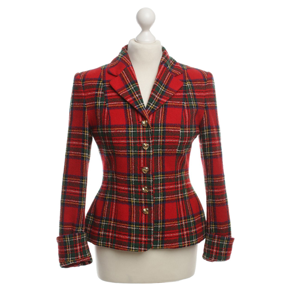 Moschino Checkered Blazer
