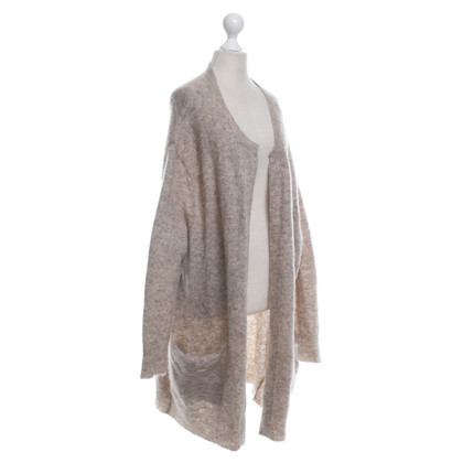 "Acne Strickjacke ""Raya"" in Beige-Grau"