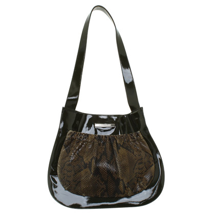 Leonard Handbag with reptile look