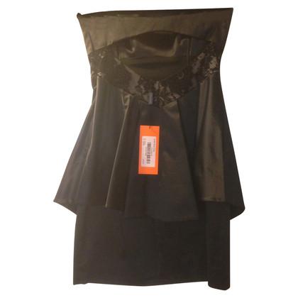 Karen Millen Backless Lace Panel Peplum Dress