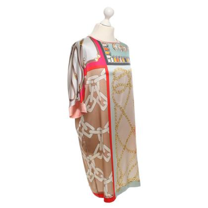 Marc Cain zijden jurk met patroon