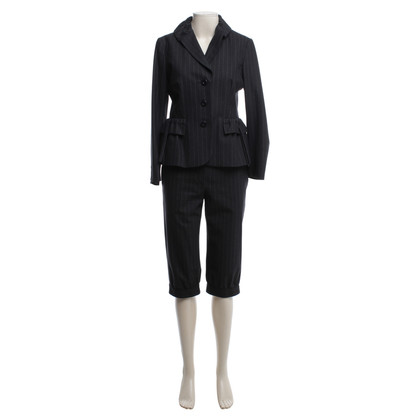 Moschino Cheap and Chic Wool costume with Pinstripe pattern