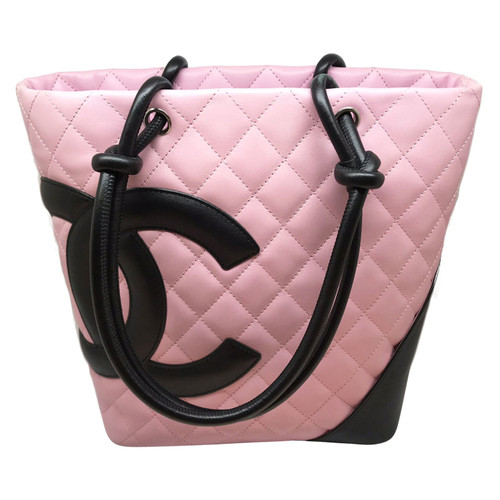 c5464df0b762 Chanel Tote bag Leather in Pink - Second Hand Chanel Tote bag ...