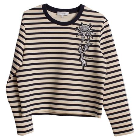 Carven Gestreifter Neopren-Sweater Bunt / Muster
