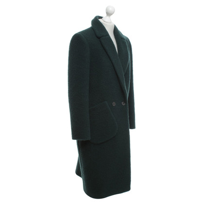 Carven Wool coat in dark green