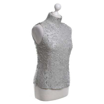 DKNY Paillettentop in grigio