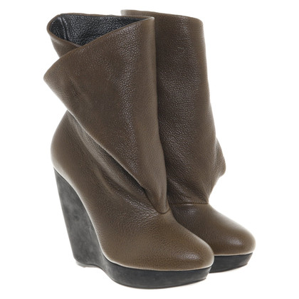 Balenciaga Ankle boots in olive green