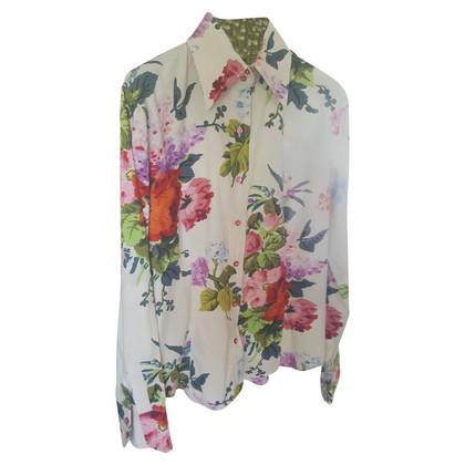 Etro Katoenen blouse met een bloemmotief