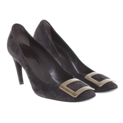 Roger Vivier Suede leather pumps in Black-Brown