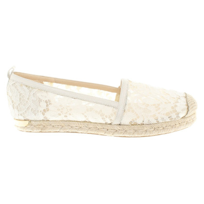 Stuart Weitzman Espadrilles made from lace