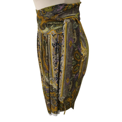 Isabel Marant Wrap-around skirt with Paislymuster