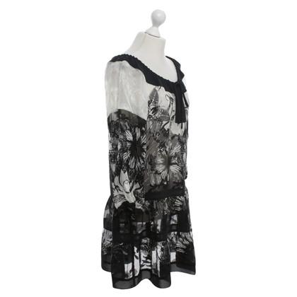 Anna Sui Semi-transparante jurk met patronen