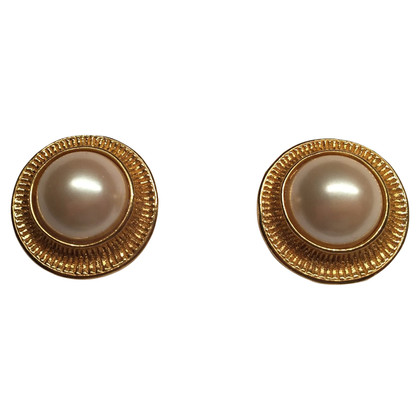 Christian Dior Ear clips with decorative pearl