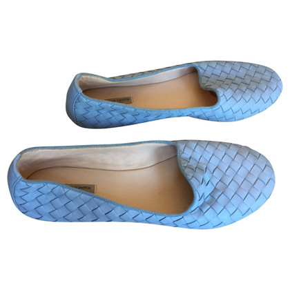 Bottega Veneta Light Blue Ballerinas