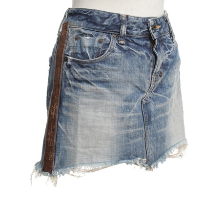 Andere Marke PRPS - Jeansrock im Destroyed-Look