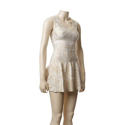 Issa Kleid mit Metallic-Muster