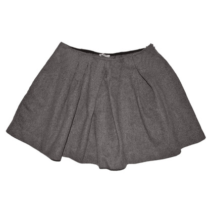 Miu Miu Brown Wool Skirt