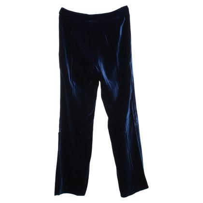 Gucci Samt-Hose in Blau