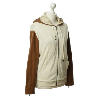 Stefanel Sweat jacket with contrast sleeves