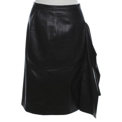 Oscar de la Renta Lederen rok in zwart