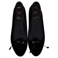 Tom Ford Tom Ford black velvet flats size 41