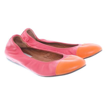Lanvin Ballerine in rosa/arancio
