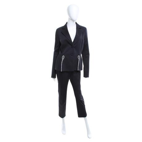 Christian Dior Anzug mit paspelierten Details Schwarz