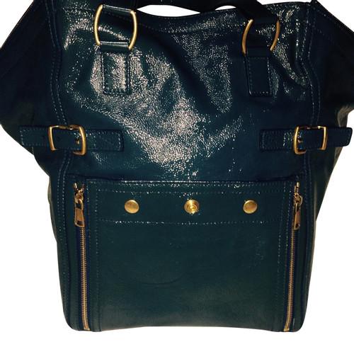 88fddcf3465 Yves Saint Laurent Shopper Leather in Blue - Second Hand Yves Saint ...