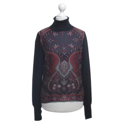 Etro Gebreide trui met een zijden kous