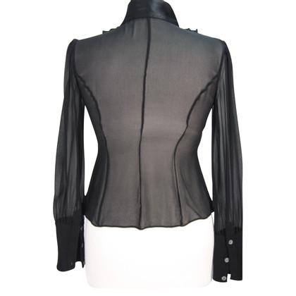 Karen Millen Silk blouse in black