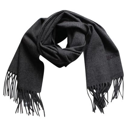 Moschino Grijs wollen sjaal