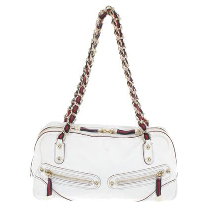 Gucci Lederhandtasche in Weiß