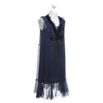 See by Chloé Abito trasparente in blu navy